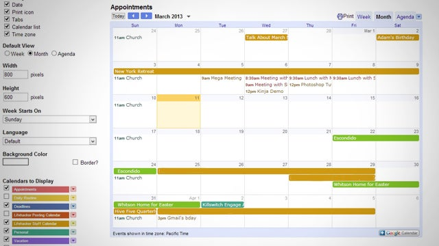Google Calendar, Special Characters, and BlackBerry Apps