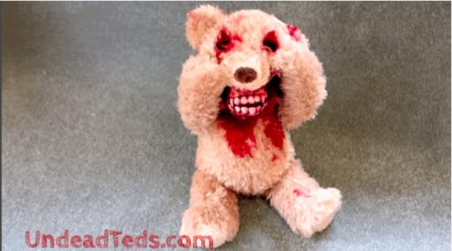 Peek-A-Boo Teddy Bear Has A Pants-Wettingly Terrifying Surprise