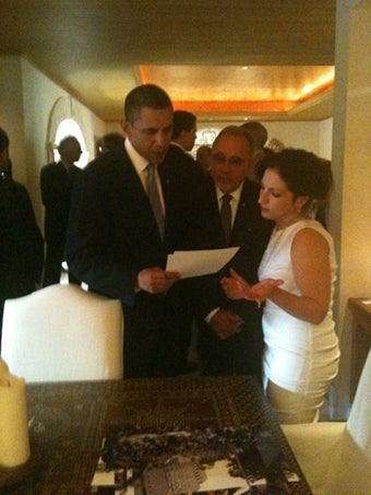 Obama Kicks It with Gloria Estefan, Makes Fun of Tea Partiers