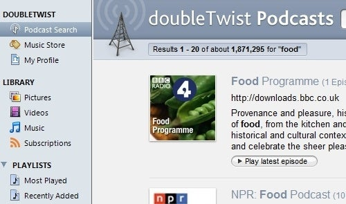 DoubleTwist Adds Podcasting to Its Device Syncing Powers