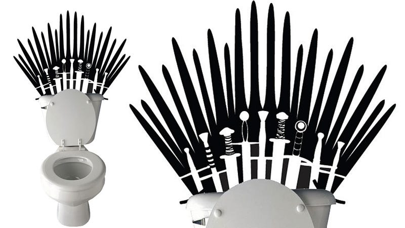 Game of Thrones Wall Decal Makes Your Toilet Fit for a King of Westeros