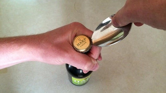 Open a Beer Bottle With a Spoon