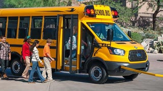 Here's The First 2015 Ford Transit School Bus