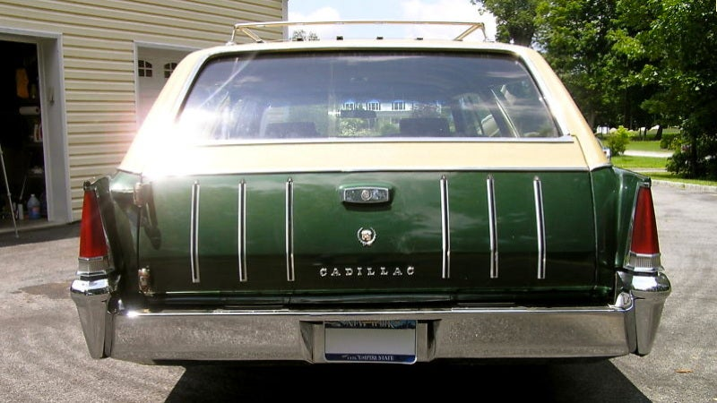 Buy this custom Cadillac wagon in British racing green