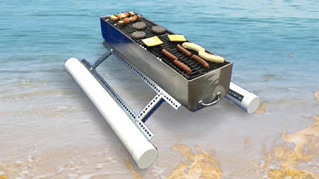 Floating Flamer BBQ Lets You Host Tailgate Parties From a Canoe