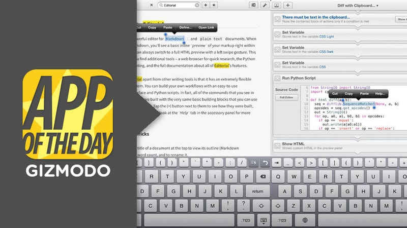 Editorial for iOS: A Better, Automated Way to Edit Text on Your iPad