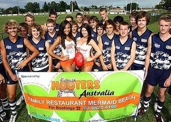 Hooters Sponsors Youth Aussie Rules Football Team, Outrage Is Palpable