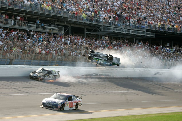 Carl Edwards Real-Life Talladega Nights NASCAR Crash ...