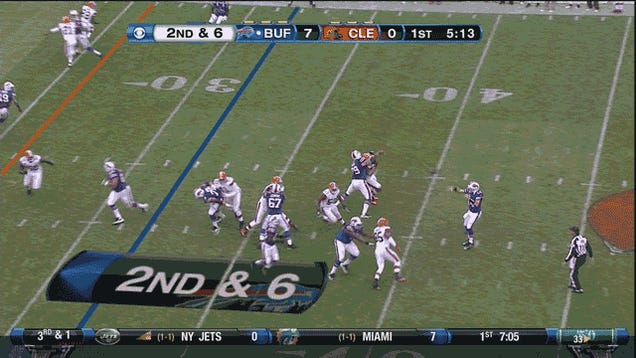 The Bills Beat The Browns And Everyone In The Press Box Survived, In One GIF