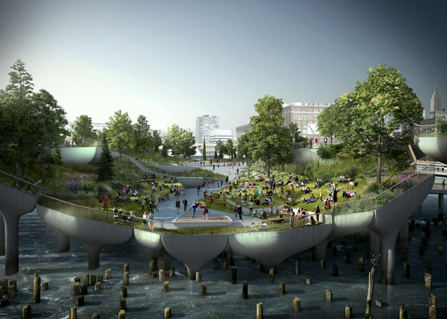 Some Billionaires Want To Give NYC a $170 Million Floating Park