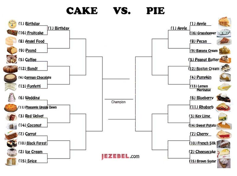March Madness, Day 2: Cake Vs. Pie Showdown Continues!