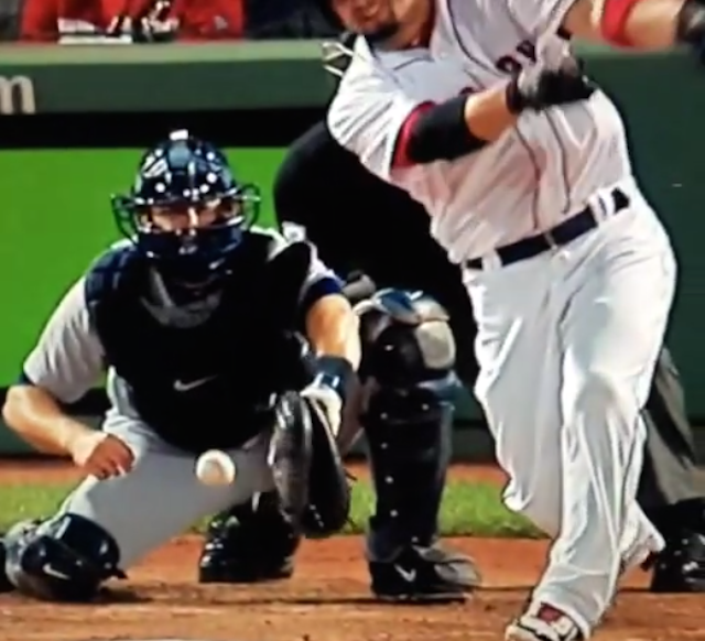 Tigers Catcher Alex Avila Takes Foul Ball To The Junk
