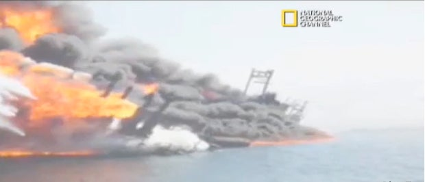 The Gulf Oil Disaster Shortly After the Explosion