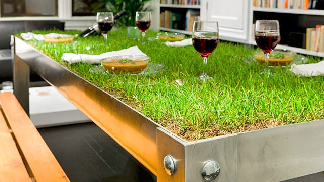 This Dining Table Needs To Be Mowed