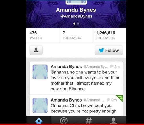 Amanda Bynes Lashes Out at Rihanna Because...?