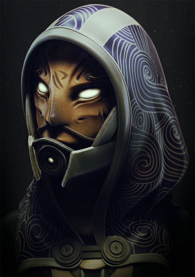 Designing a Better Face for Mass Effect's Tali