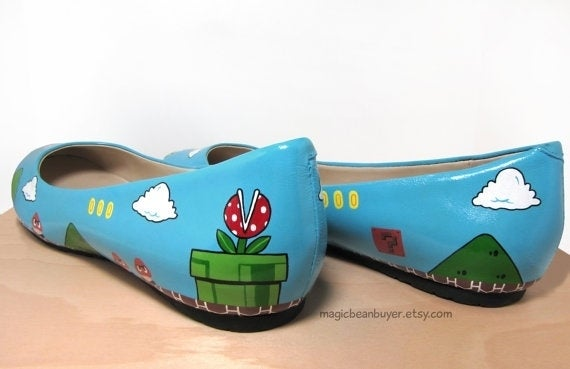 You Won't Jump Over the Flagpole in These Awesome Mario Heels