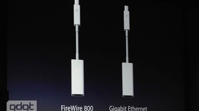 New Thunderbolt Adapters Will Connect to FireWire 800 and Gigabit Ethernet