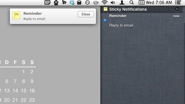 Sticky Notifications Pins Reminders to Notification Center