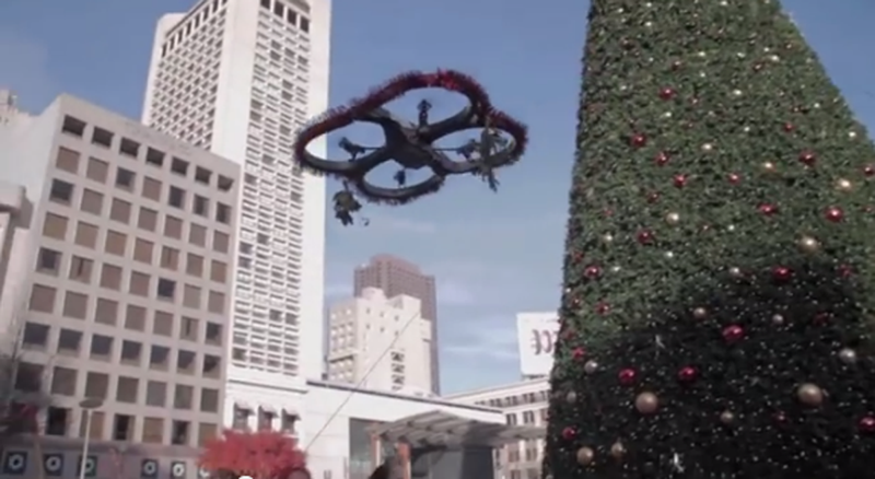 Watch This Mistletoe Drone Launch Surprise Kiss Attacks