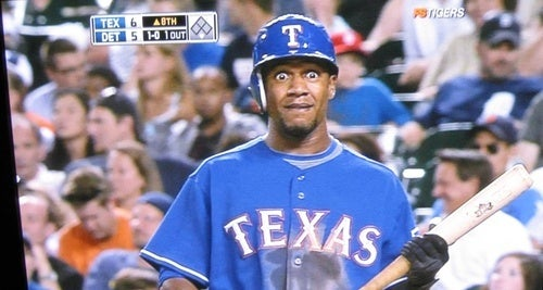 Someone Just Told Julio Borbon He Has To Spend 14 Innings In Detroit