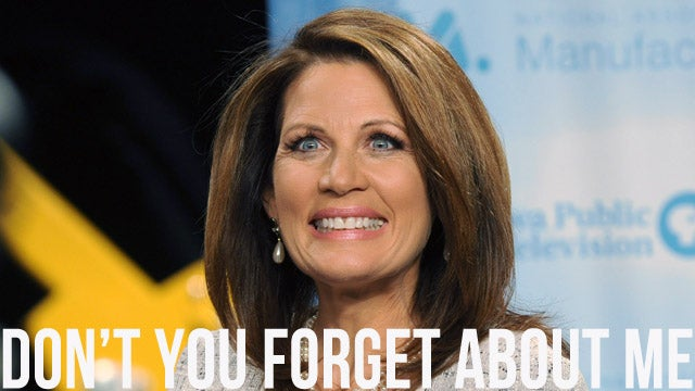 Michele Bachmann Earnestly Promotes Awareness of Michele Bachmann