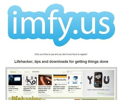 Imfy.us Generates Shortened, Secure, and Non-Indexable URLS