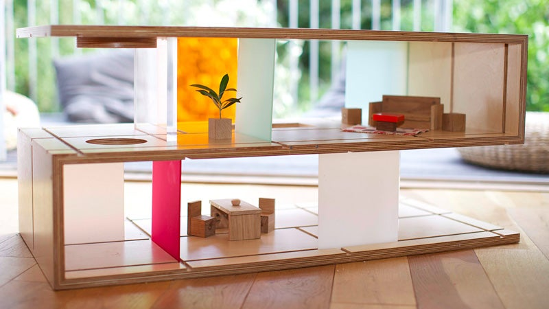 Modern Coffee Table Doubles As Barbie's Dreamhouse or G.I. Joe's HQ