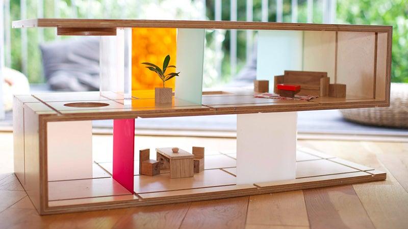 Modern Coffee Table Doubles As Barbie's Dreamhouse or G.I. Joe's HQ