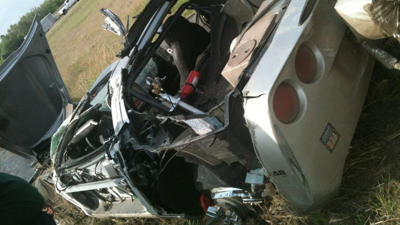 Corvette in 230 MPH crash at Texas Mile