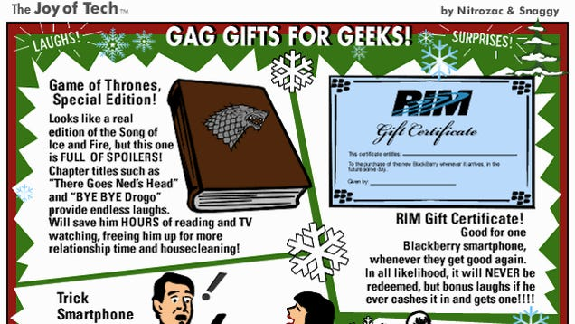 Getting These Hilarious Gag Gifts Will Ruin a Geek's Christmas