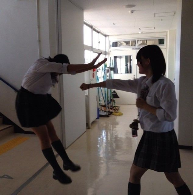 Japanese Schoolgirls Bring Manga Style Martial Arts To Life for Fun
