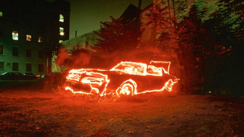 The Firebird made from fire