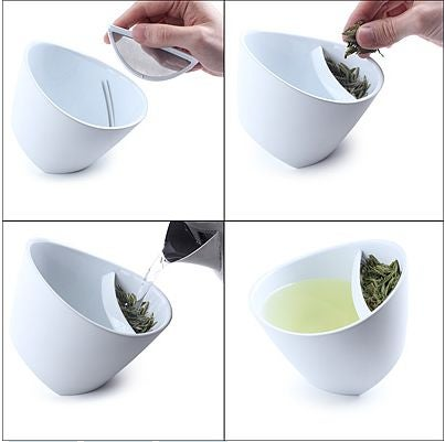 Tipping Teacup Eliminates Tea Bags, Balls, and Other Infusers