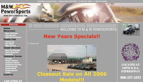 Now That's Powerful Fun! M&W Powersports: Where the Wind Comes Sweepin' Down the Plain