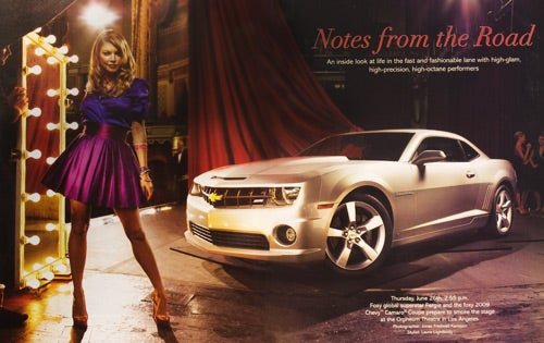 2010 Chevrolet Camaro SS Revealed In Conde Naste Ad Supplement With Black-Eyed Peas Singer