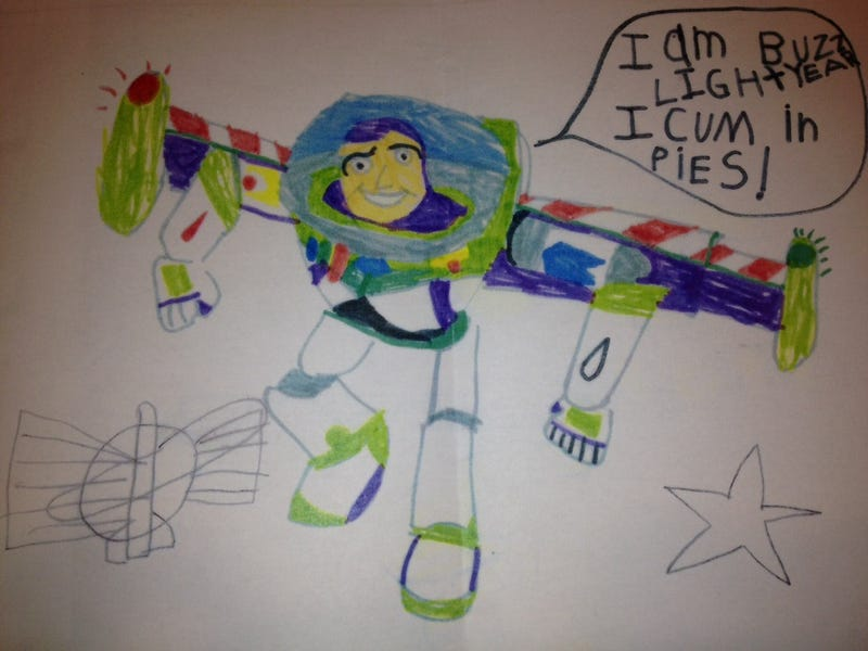Child's Drawing of Buzz Lightyear Will Ruin Disney for You [NSFL]