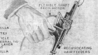 The First Hair Plug Machine Looks Absolutely Horrifying