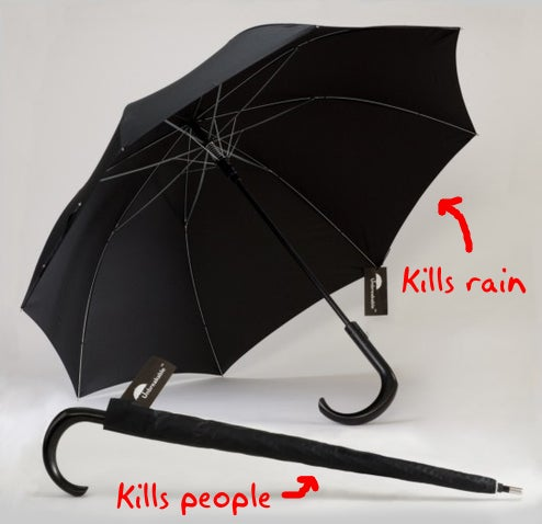 Mary Poppins Has Nothing On The Unbreakable Fighting Umbrella (John Steed, however...)