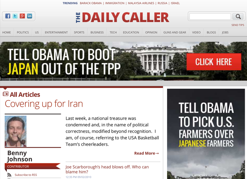 Daily Caller dude, call your office