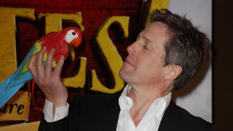 Hugh Grants Flips the Bird