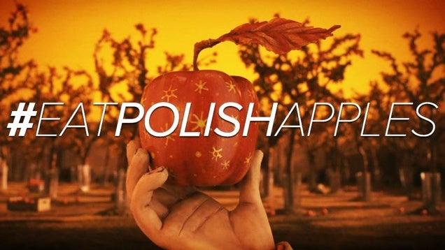 Almákkal mutatnak be Putyinnak a lengyelek