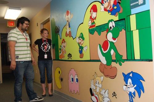 A Gaming Mural With Heart