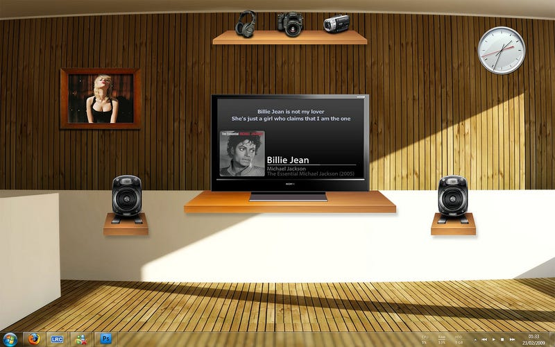 The Sleek Wood Desktop