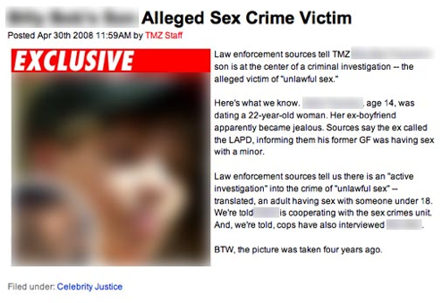 TMZ Continues To Be a Piece Of Shit