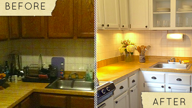 Makeover Your Kitchen for About $400 in One Day
