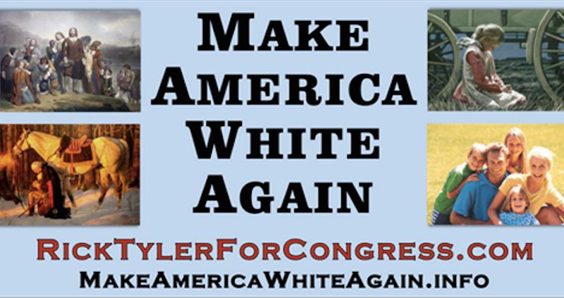 "Fringe Congressional Candidate Erects ""Make America White Again"" Billboard in Tennessee"