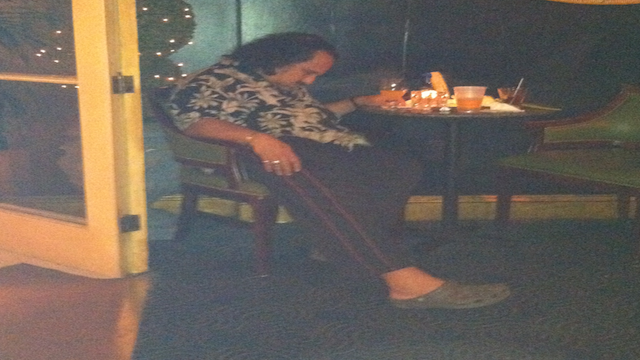 This Evening: Keep It Down, Please. Ron Jeremy Is Trying To Sleep At A Bar In New Orleans