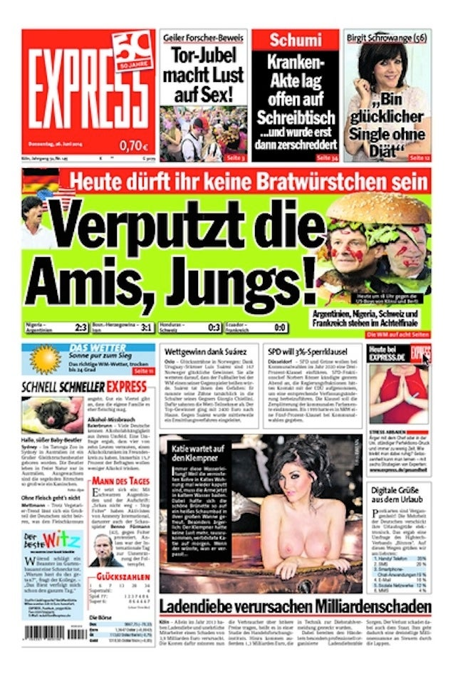 The German Press Is Talking Shit About Us, You Guys [NSFW]