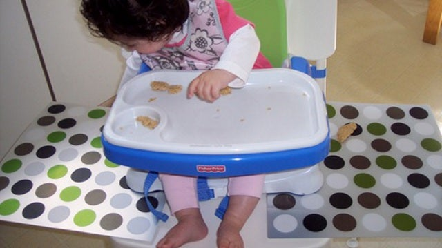 Add Wings to a High Chair to Prevent Food Spills